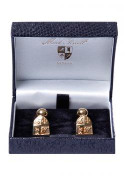 MP Cufflinks Gold Plated