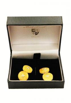 MP Cufflinks Gold Amber