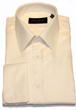 Classic Collar Shirt Cream Herringbone