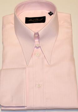 Spear Tab Collar Shirt Pink Herringbone