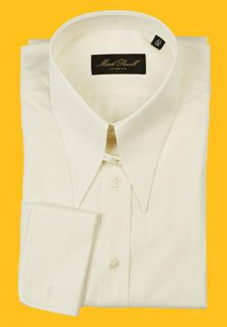 Spear Collar Shirt Plain Cream