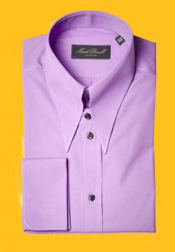 Spear Tab Collar Shirt Purple