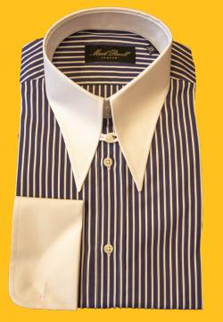 Spear Collar Shirt Blue White Stripe