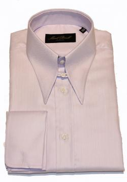 Spear Tab Collar Shirt Lilac Herringbone