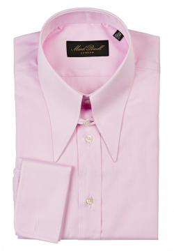 Spear Collar Shirt Plain Pink